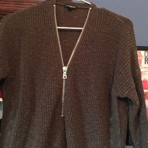 Express olive green sweater size Ss